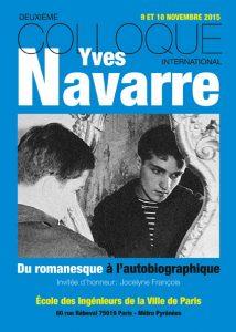 Colloque Yves Navarre 2015